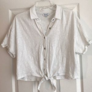 Splendid SZ S cropped polo top